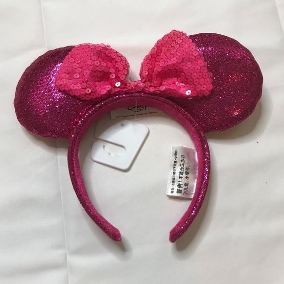 Pink Minnie Mouse Disney Park Ear Headband